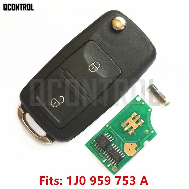 QCONTROL Автомобильный Дверной замок удаленное обновление ключа для VW/VOLKSWAGEN Lupo Bora Passat Polo Golf Beetle 1J0959753A/HLO 1J0 959 753 A