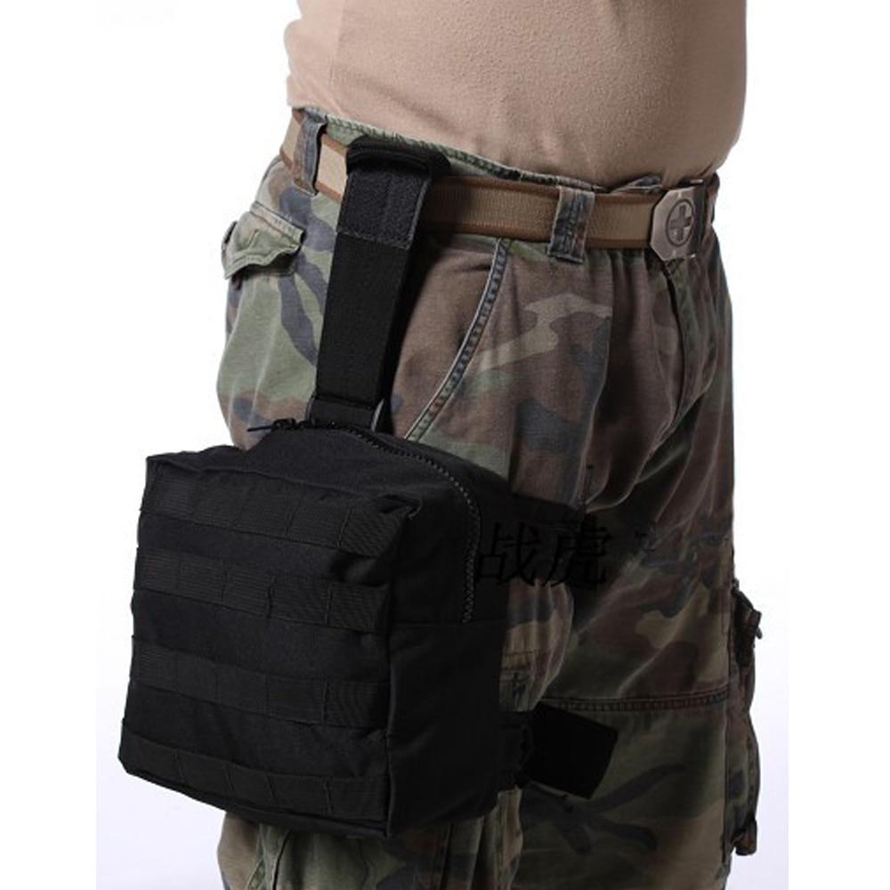 Paquete de pierna de caída táctica Molle EDC Gadget de utilidad bolsa de engranaje cinturón de cintura Fanny Thigh Pack para senderismo al aire libre caza