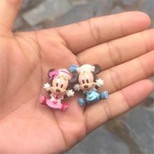 100pcs/lot 2.5cm classical sailor mickey minnie mouse very small figure toys cute sailor minine microlandschaft figures