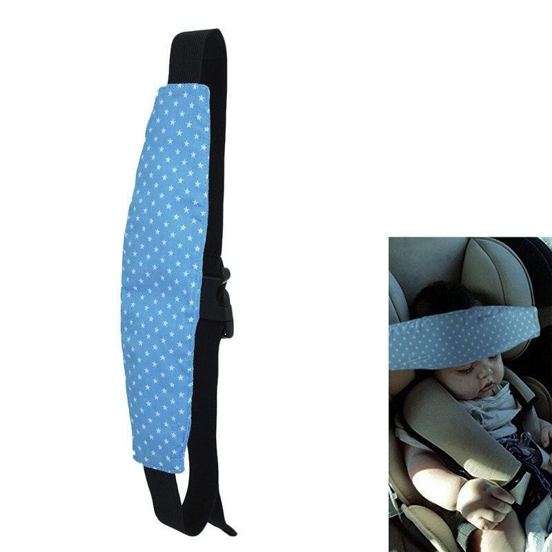 1 Uds banda de fijación para bebé soporte para cabeza de niño estampado de estrellas cinturón para dormir asiento de coche soporte para siesta cinturón cochecito de bebé seguridad mar
