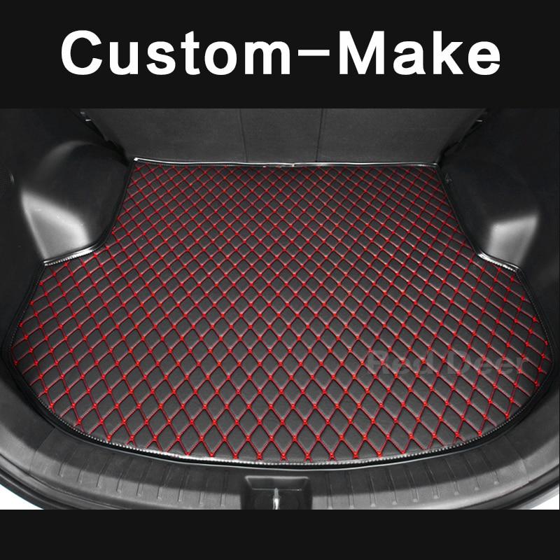 Alfombrilla para maletero de coche personalizada para Porsche Cayenne Macan Panamera turbo S 4S alfombra de lujo bordada funda de carga