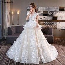 Vestido de novia 2020 romántico inspirado cuello en V encaje Festival vestidos de novia vestidos de espalda baja vestido de novia abiti sposa