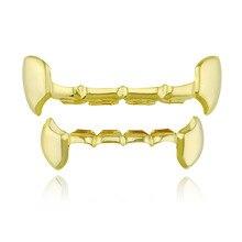 Bnrevente Hip Hop glacé bouchon de dents Grillz dents haut bas ensemble Bling dents bijoux pour homme