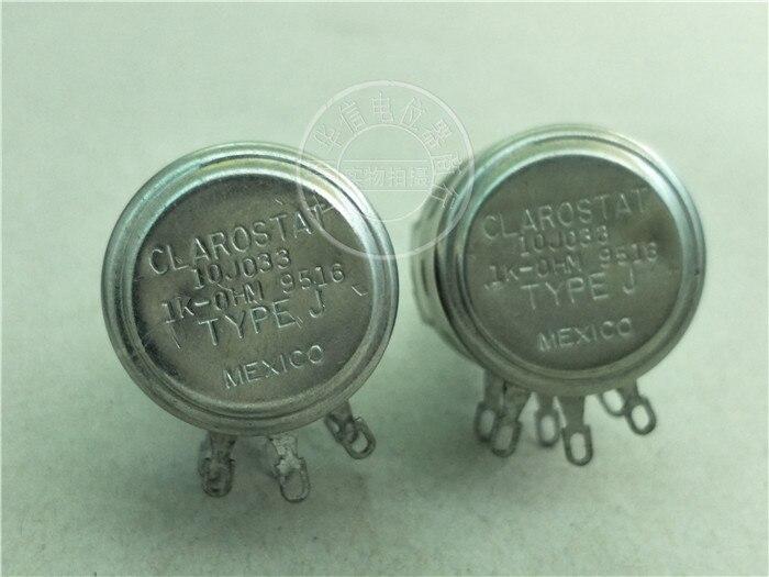 Punto Caliente Estados Unidos importación 10J033 1K-OHM potenciómetro doble 1K mango largo 27MM eje circular (interruptor)