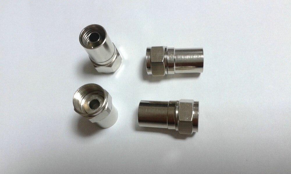 100 قطعة RG59 F نوع تجعيد على موصل للتلفزيون اقناع مهائي كابلات
