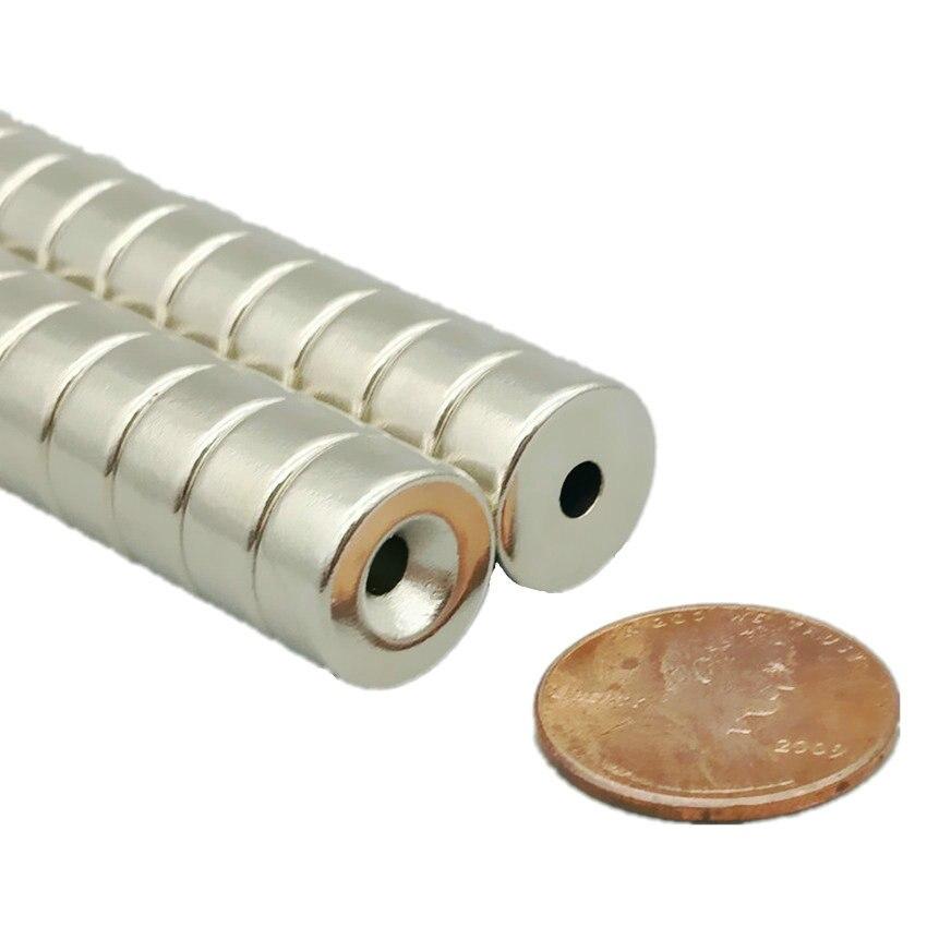 "24 unids/pack NdFeB disco magnético diámetro 12,7x6mm de espesor M3 orificio avellanado para tornillo de 1/2 ""fuerte neodimio imanes permanentes"