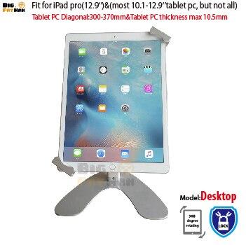 Ambiente de trabalho Universal Tablet Suporte para 10.1-12.9 polegada tablet pc suporte suporte de segurança para ipad pro Superfície samsung Guia área de trabalho
