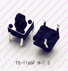 100PCS-1000PCS 6X6X7.3MM 4PIN DIP& SMD Momentary Tact Button Top Square Head Tactical Keys Switch Mini Push Button