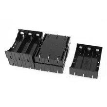 5 uds negro de plástico de 3x3,7 V 18650 6 Pin funda porta baterías