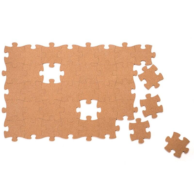 Kork Holz Phellem Wand Jigsaw Puzzle Büro Schule Zu Hause Dekoration Kork Bord Aufkleber Pins Bord Holz Puzzle