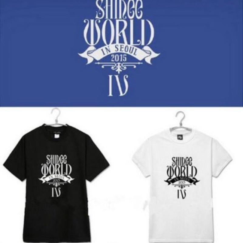 Mainlead Новый Kpop мир SHINee IV в футболка Сеульский Мин Хо таэмон стиль унисекс веер товары