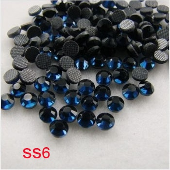 (1.9-2.0mm) , Free Shipping1000gross/14400pcs,SS6 crystal glass hot fix dmc rhinestones, high quality machine cut stones