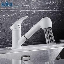 Azeta robinet de cuisine extractible 2 fonctions   Blanc, sortie deau, Torneira Cozinha robinet de cuisine à une poignée, MK6508W