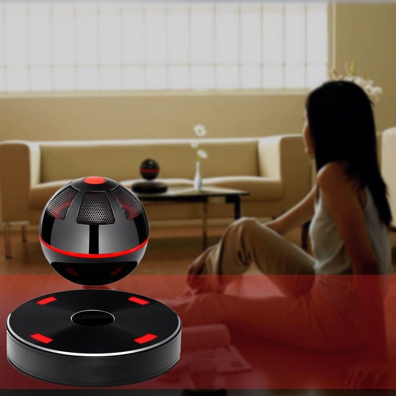 Portátil NFC levitación magnética flotante 3D estéreo Bluetooth altavoz 4,1 para iPhone/Samsung negro