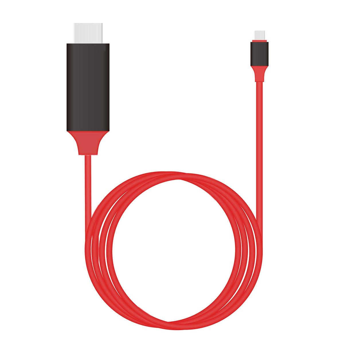 USB-C USB 3,1 tipo C a HDMI 4k 2k HDTV Cable para ordenador portátil y Galaxy S8 y XPS13 y portátil de 2m