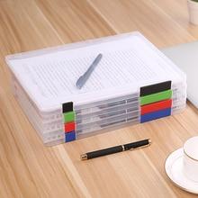 Feiqiong nouveau Style A4 boîte de rangement de fichiers Transparent en plastique porte-documents bureau papier boîte de rangement bureau accueil organisateurs nouveau