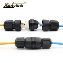 Xintylink RJ45 stecker wasserdicht utp stp cat6 buchse M25 F/F weibliche lan ethernet kabel cat5e katze 6 8p8c doppel rg rj 45 ip67