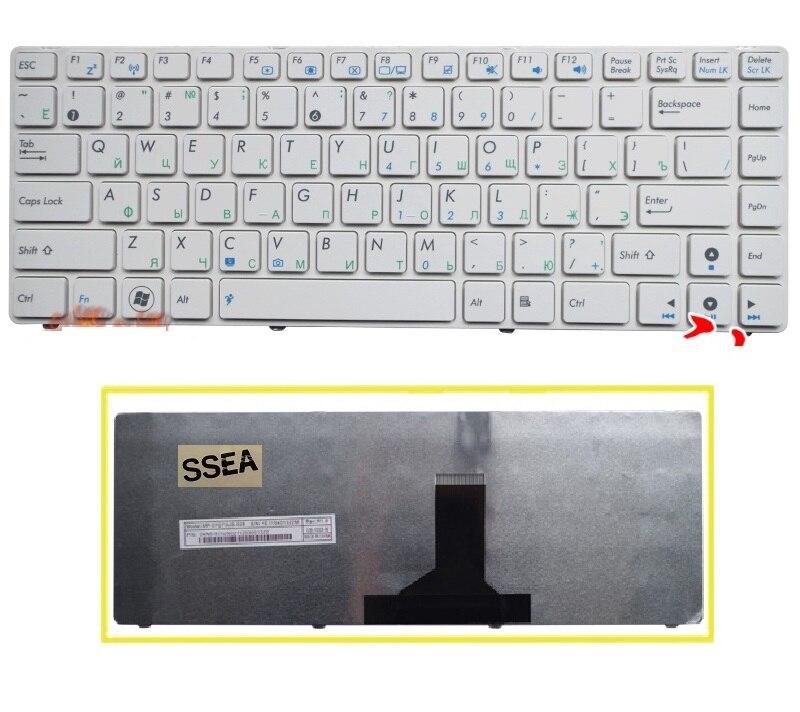 SSEA nueva RU teclado para ASUS N82 N82J N82JQ N82JG N82JV K42 A42F X44H X43 A42 A42D A42J K42D A42J u32 U35 U41 teclado ruso