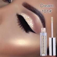 New 1Pcs Metallic Diamond Liquid EyeShadow Pearly Watery Sparkling Party Radiant Fashion Eye Shadow Eye Makeup TSLM1