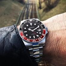 Parnis 40 Mm Mechanische Horloges Gmt Sapphire Crystal Man Horloge 2019 Automatische Relogio Masculino Rol Luxe Horloge Mannen Gift