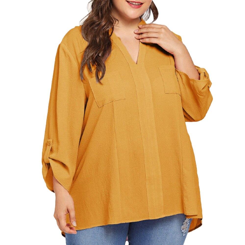 Camisa mujer streetwear vintage ropa coreana casual harajuku hoodie de talla grande manga larga Oficina mujer estilo coreen sexy 2019