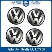 4 pièces/ensemble emblème de Logo   Capuchon de moyeu central pour VW Volkswagen Jetta Golf coccinelle CC EOS GTI 1J0 601 171
