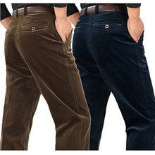 Pantalons en velours côtelé joggers dâge moyen en vrac hommes dâge moyen papa installé en automne et en hiver 2017 pantalons décontractés pour hommes en velours côtelé