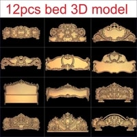12pcsset bed 3d model stl relief for cnc stl format furniture 3d stl format furniture decoration