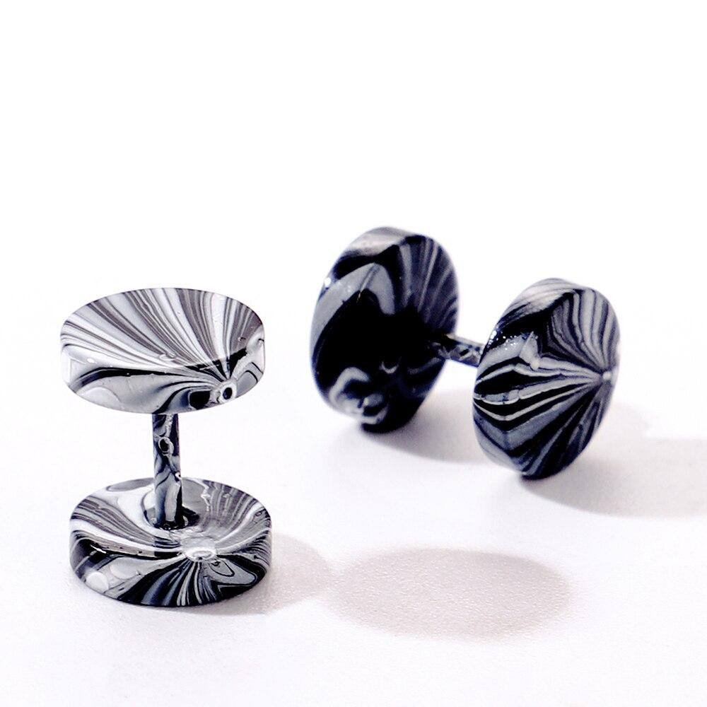 1 Pair Punk Earrings Double Side Round Bolt Stud Earrings Male Gothic Barbell Candy Colorful Piercing Earrings Men Women Jewelry