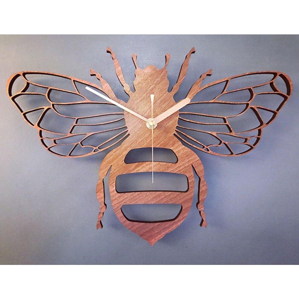 Creativo Reloj de pared de bambú/madera de abeja decoración de la naturaleza del jardín pared colgante relojes de mesa reloj de cuarzo sala de estar dormitorio