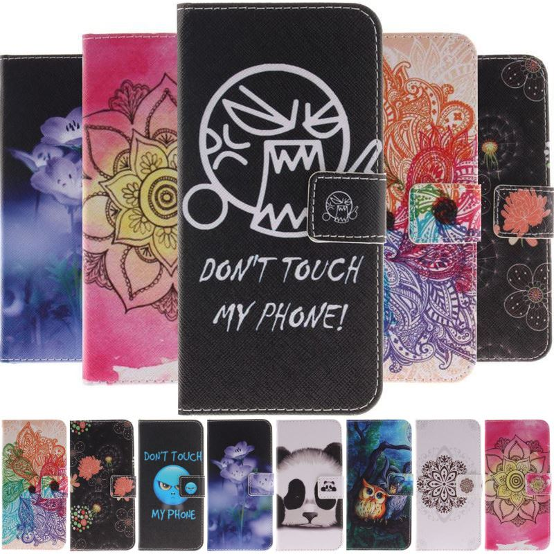 Flip Case For Samsung Galaxy S9 S8 S6 Edge Plus S5 Note 5 j5 j2 Prime G361 Colorful Datura Flower Wallet Card Pocket Case DP26G