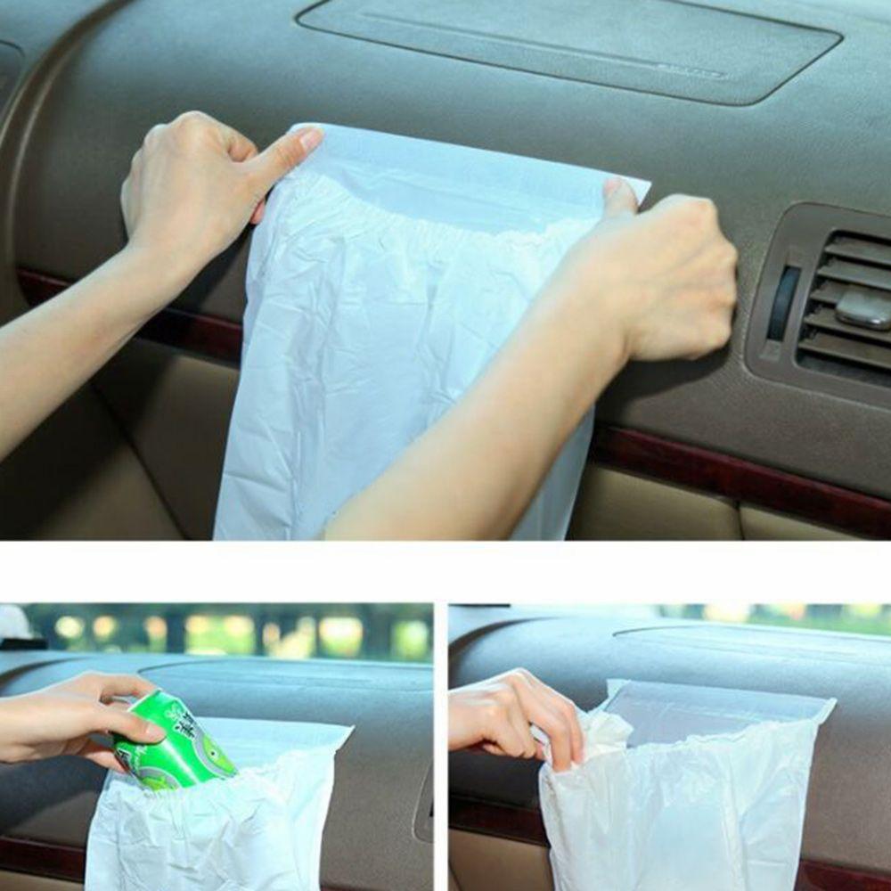 3 stücke Müll Taschen Trash Müll Lagerung Selbst-adhesive Leck Beweis Auto Papierkorb