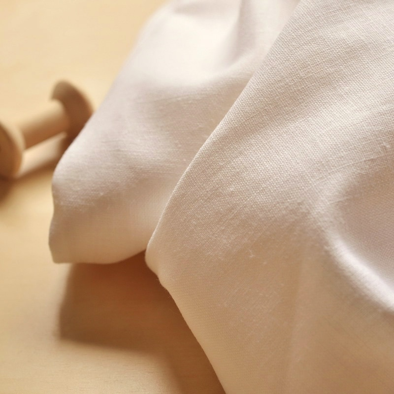 Blanco arroz, Slub, algodón, cáñamo, tela, traje Original, camisa de taichí, tela de camisa