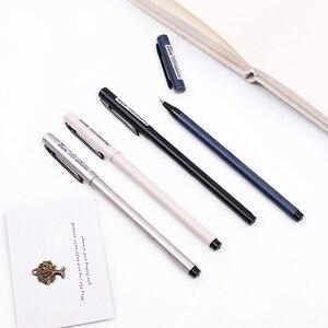 4 pcs/lot MIRUI stationery creative metal pole gel pen student examination pen 0.5mm black ink bullet lead school office supply