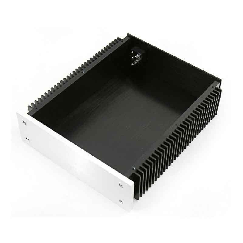Caja para amplificador kyylb BZ2307, caja para amplificador de Audio de 226,5x70x271MM, chasis de aluminio para amplificador de Audio en casa, enfriamiento en ambos lados con Terminal RCA