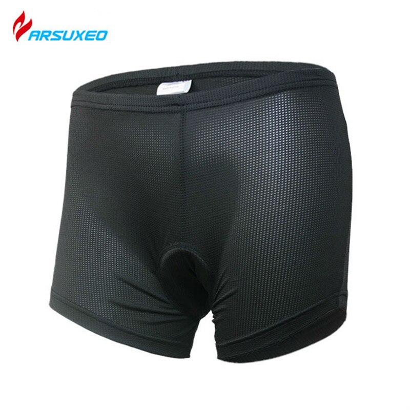 Ropa interior ARSUXEO para mujer, para ciclismo, bicicleta, 3D, Coolmax, silicona acolchada, transpirable, secado rápido, pantalones cortos deportivos, ropa