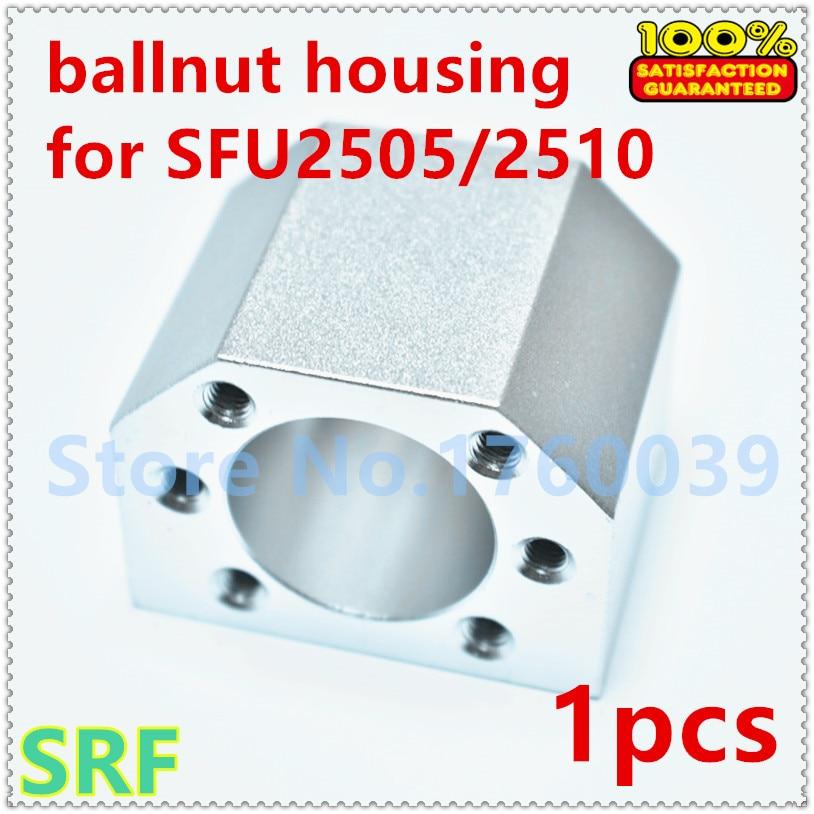 1pcs SFU2505 SFU2510 ballscrew nut housing  for SFU2505 ball nut bracket holder Aluminium DSG25H