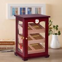 Giantex Countertop Display Humidor 150 Cigars Storage Cabinet Humidifier Hygrometer New Living Room Cabinet HW56599