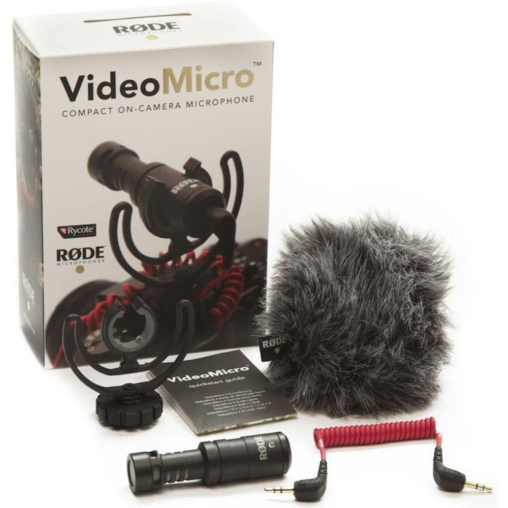 Rode VideoMicro Compact On-Camera записывающий микрофон для Canon Nikon Lumix Sony DJI Osmo DSLR Camera Microfone