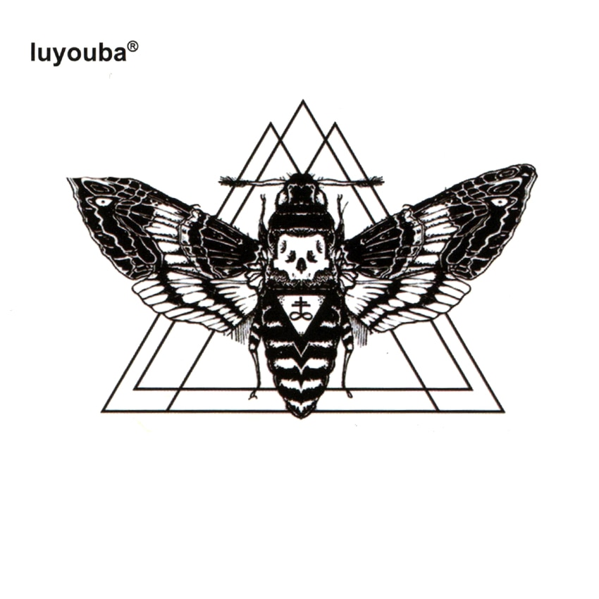 Водонепроницаемые татуировки Beauty Bee, временная татуировка для мужчин, милые тату с животными, Детские татуировки в стиле Харадзюку, хна, стикер для боди-арта с изображением павлина