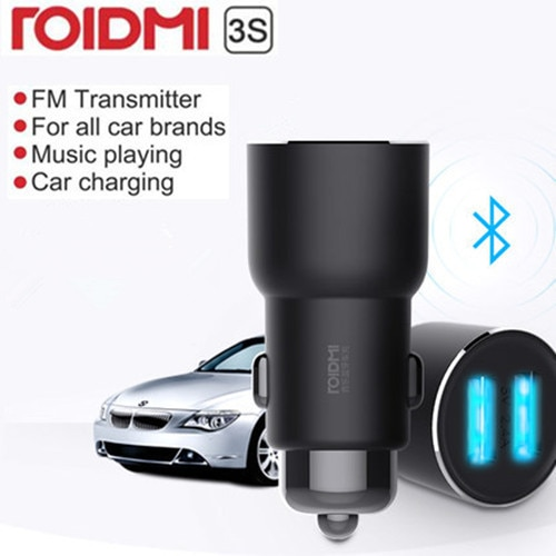 Youpin ROIDMI 3S Bluetooth 5V 3.4A Car Charger Music Player FM Smart APP for iPhone and Android Smar