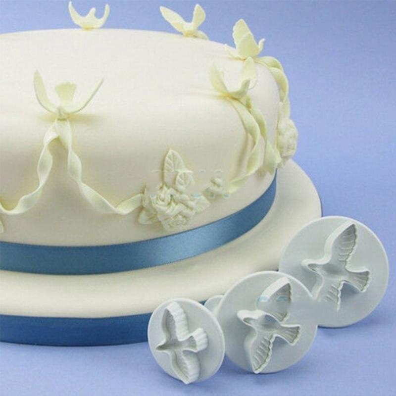 3 pièces/ensemble colombes emporte-pièces gâteau Cookie moule gâteau pain décoration Sugarcraft moule Cookie plongeur coupeurs outils gâteau outils