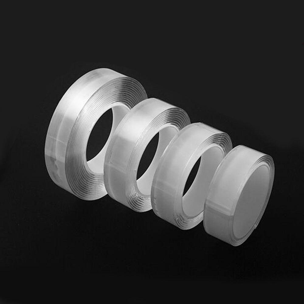 Моющийся с адгезионным покрытием NanoTape Многоразовые прозрачные двусторонний силиконовый противоскользящие бесследные съемные липкие полосы толщиной 1 мм/2 мм