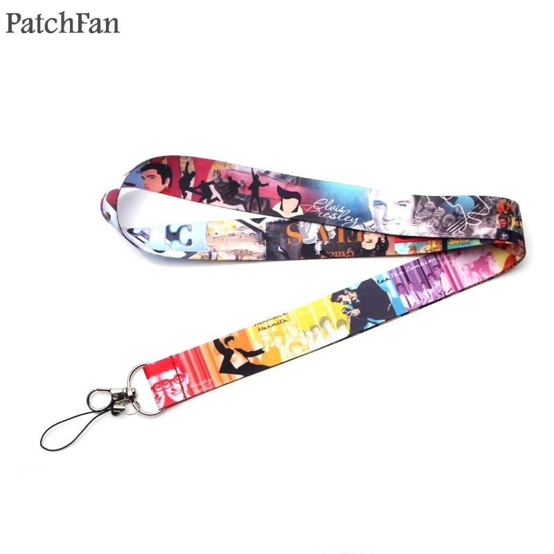 Patchfan Hip hop Punk 90s chaveiro chaveiro cordão colar de fita webbing fita para o pescoço para id badge holder telefone A1567