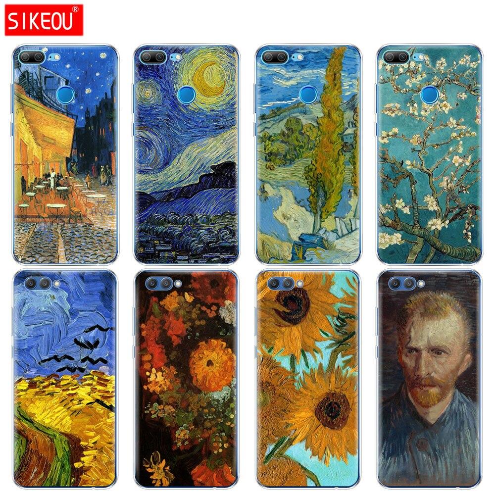 Silicone Case Capa do telefone para Huawei Honra 10 V10 3c 4C 5c 5x 4A 6A 6C pro 6X7X6 7 8 9 LITE Renascimento Van Gogh óleo pintura