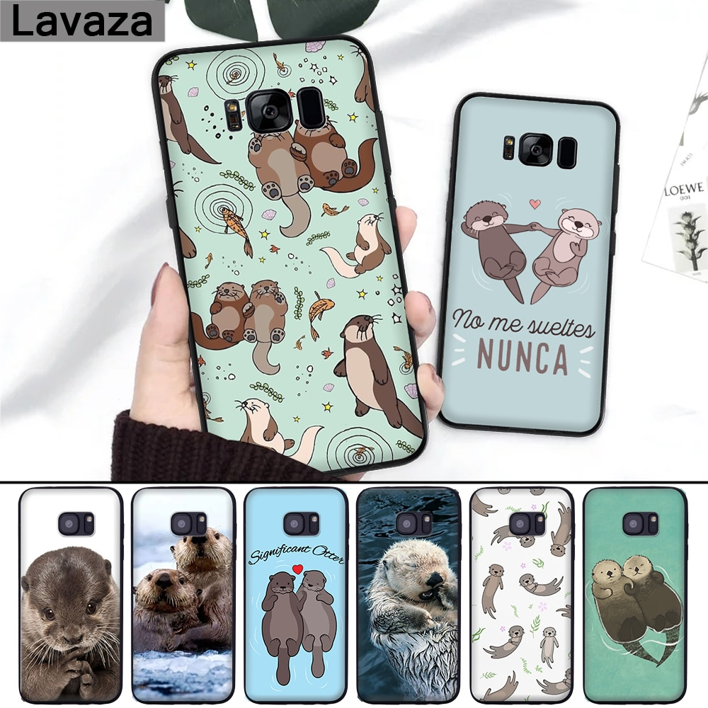 Lavaza Animal Cute Baby Otter Pattern Silicone Case for Samsung S6 Edge S7 S8 Plus S9 S10 Note 8 9 10 M10 M20 M30 M40