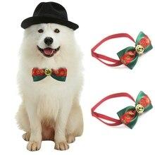 طوق عيد الميلاد الحيوانات الأليفة القط الكلب الرقبة جرو الاستمالة عيد الميلاد اللازمة ربطة القوس فيونكة حزب زخرفة عيد الميلاد مهرجان لوازم