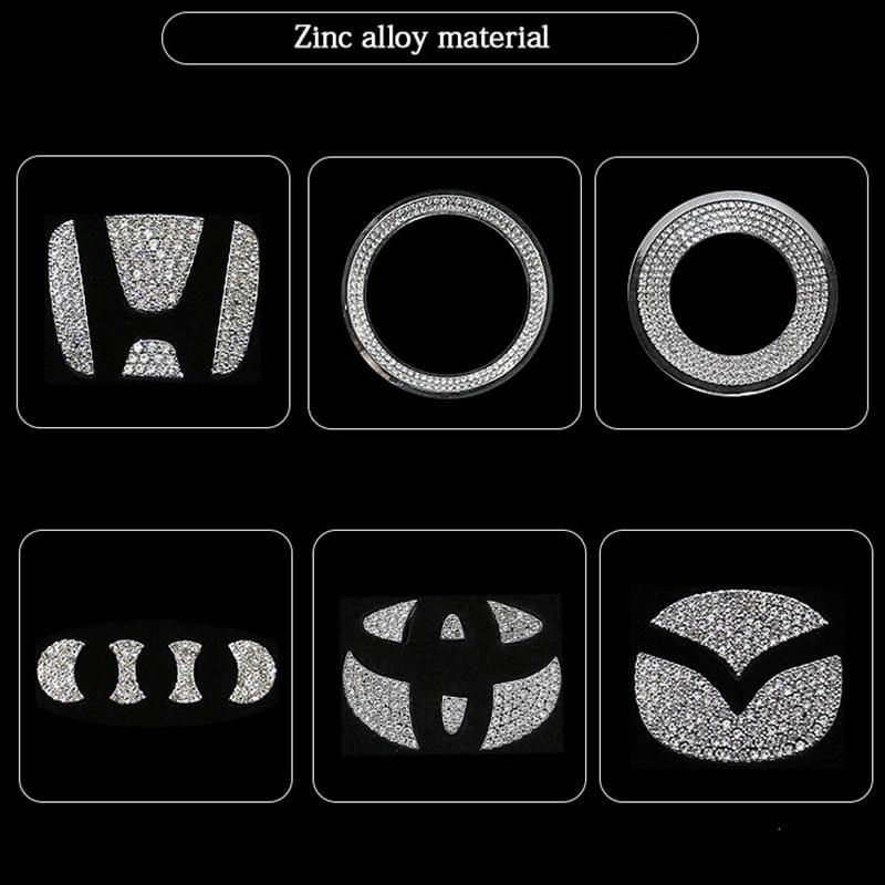 AliExpress - Car Accessories for Volkswagen Audi Volvo Lexus Hyundai Honda Mazda Toyota Car steering wheel logo diamond decoration stickers