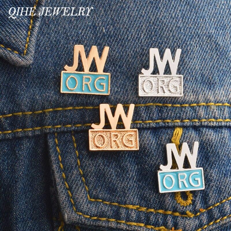QIHE JÓIAS 4 pçs/set JW.ORG As Testemunhas de jeová Christian alfinetes de Lapela e Emblemas Broches Pinos para mulheres dos homens unisex Pinos Atacado