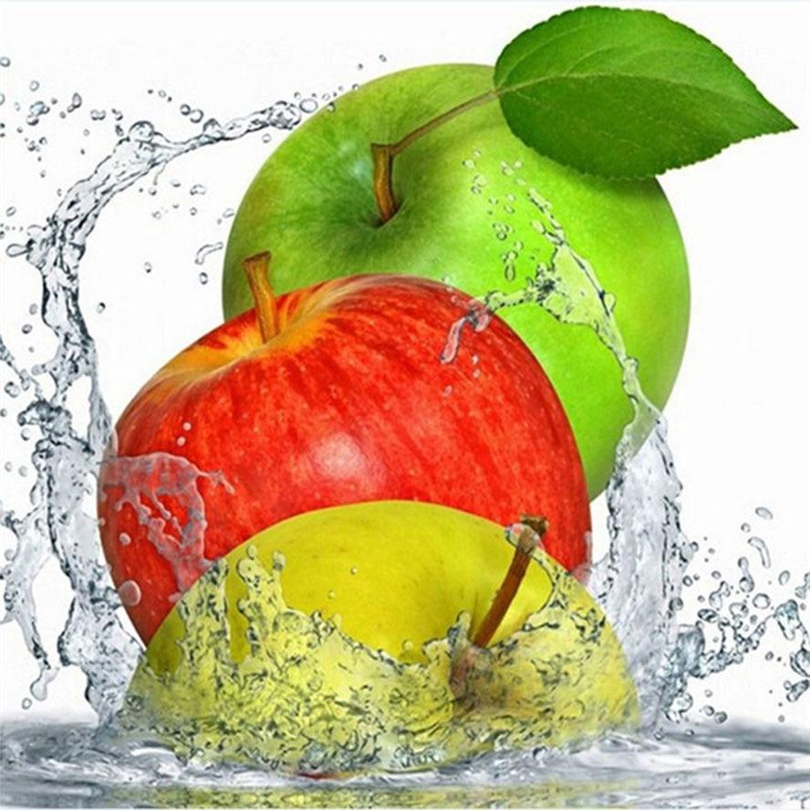 100% 3D diy diamond embroidery fruit red apple diy diamond painting home decor diamond maosic cross stitch picture wall sticker